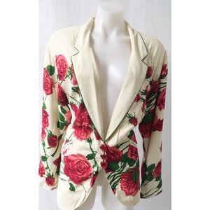 Jackets & Blazers - Cream/Red Blazer Size Medium